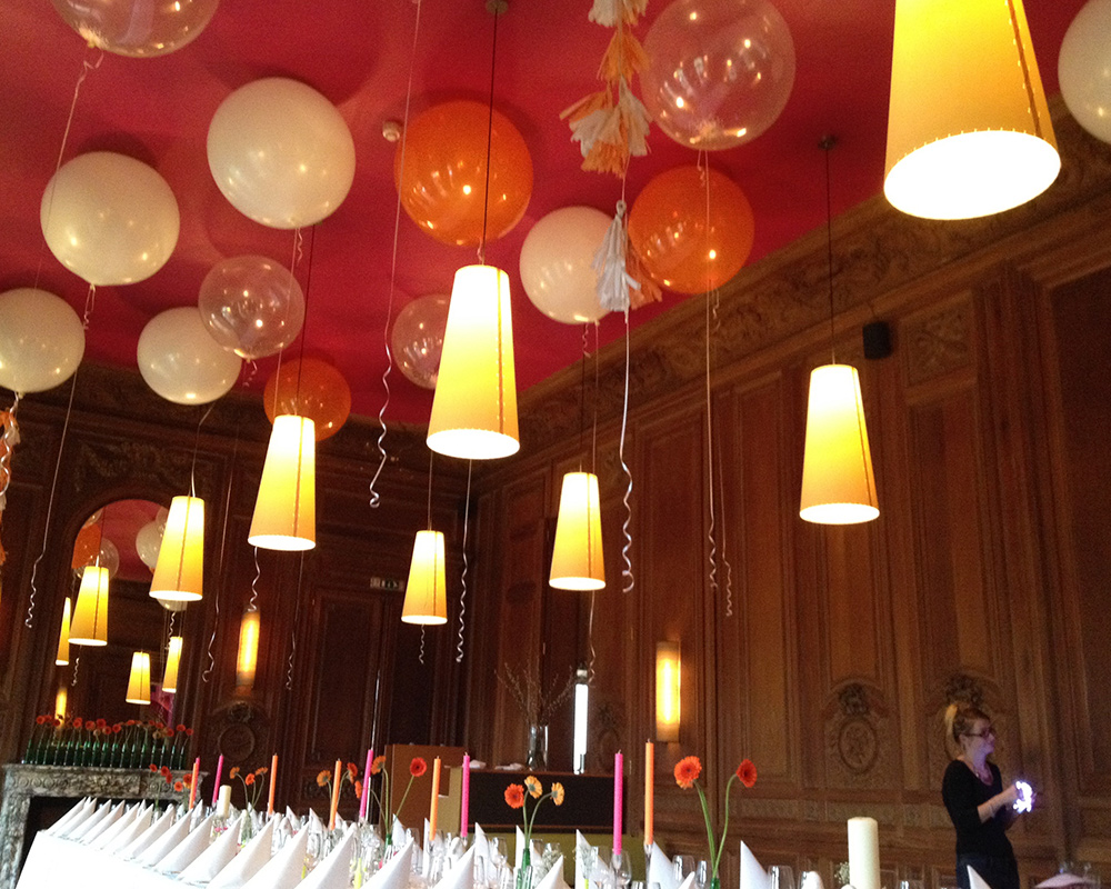 Balloons Above Top Table